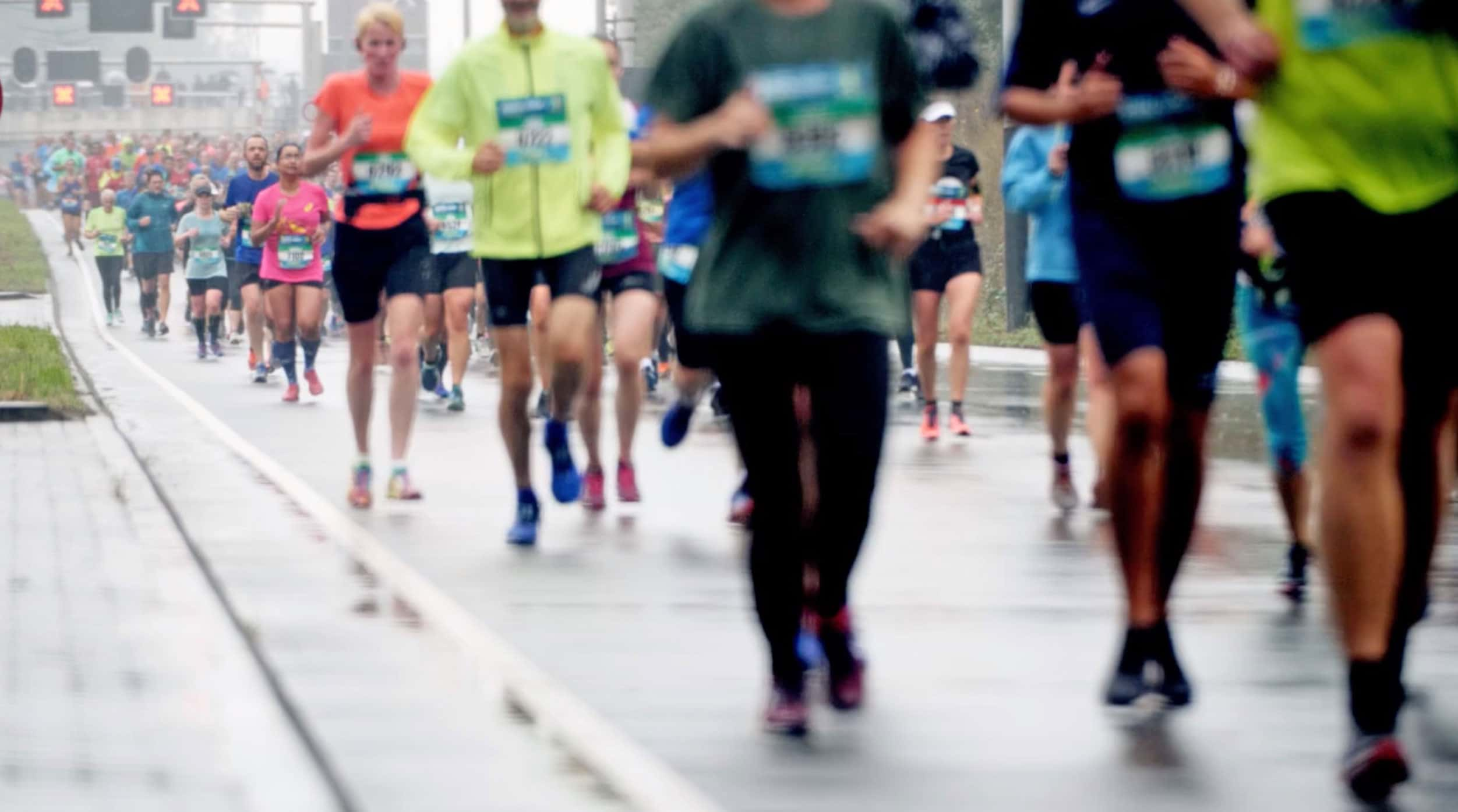 Photo of runners in a marathon.